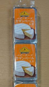 イオン トップバリュ ベビーチーズ カマンベール入りのパッケージ