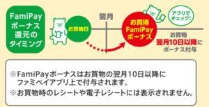ファミリーマートのファミペイ(FamiPay)ボーナスの付与タイミング