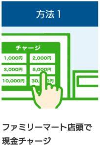 ファミリーマートのファミペイ(FamiPay)店頭での現金チャージ方法について