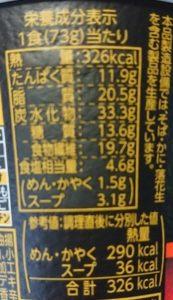 ファミリーマートのライザップRIZAP麻辣湯麺の栄養成分表