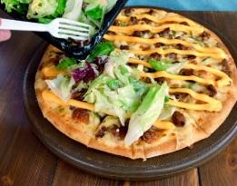 ドミノピザのの裏ドミノ チーズバーガーピザの作り方手順1