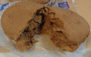 ローソンのブランのキャラメル蒸しケーキの断面図