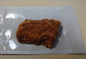 ローソンのLチキ「トマチー味」の大きさ